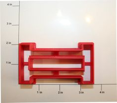 Rail Fence Cookie Cutter by GingerbreadCutterCo on Etsy, $7.00