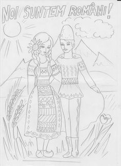 Noi suntem romani! School Suplies, Halloween Coloring Pages, Crotchet Patterns, Youth Activities, Autism Classroom, Home Schooling, 1 Decembrie, Free Coloring Pages, Colorful Pictures