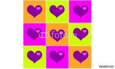 Vektor: Lot's of hearts Neu auf www.fotolia.com