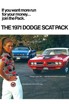 """Muscle Car Ad Campaigns """"The Scat Pack""""   Blog - MCG Social™   MyClassicGarage™"""