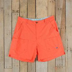 Southern Marsh Tarpon Flats Fishing Short in Neon Coral Fishing Shorts, Coral Shorts, Southern Marsh, Gentleman, Neon, Flats, Swimwear, Shopping, Collection
