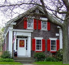 Bright Red Shutters | The Cottage Chronicle by Kathryn Bechen Designs: May 2006