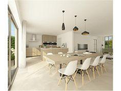 Mogelijke indeling keuken en woonkamer