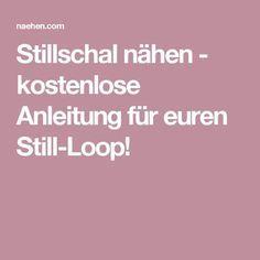 Stillschal nähen - kostenlose Anleitung für euren Still-Loop!