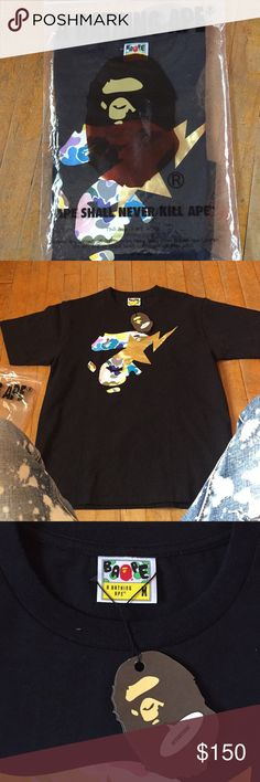 f3c802ba7 Black BAPE shirt Size M never been worn all tags on shirt I bought wrong  size