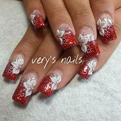 Creative Nail Designs, Cute Nail Designs, Creative Nails, Acrylic Nail Designs, Sparkle Nail Designs, Sparkle Nails, Holiday Nails, Christmas Nails, Judy Nails