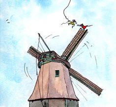 Kleuterproject molens, kleurplaat molen, werkblad molen, digitaal prentenboek molen, van graan tot brood, van akker tot bakker
