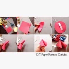 DiY Paper Fortune Cookies Bonne année à nos amis chinois !