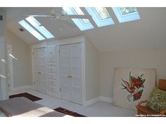 Skylights + closets