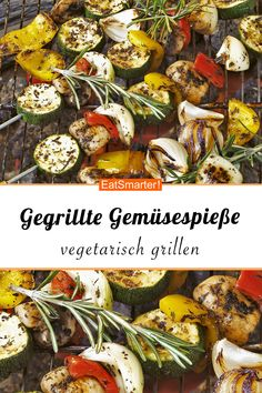 Grilled Vegetable Skewers – Grilled Vegetable Skewers – Smarter – Calories: … – Famous Last Words Grilled Vegetable Skewers, Grilled Vegetables, Grilled Skewers, Healthy Eating Tips, Healthy Cooking, Cooking Tips, Hamburger Meat Recipes, Sausage Recipes, Grilling Sides