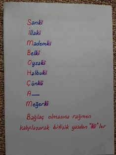 """-ki""nin yazımı Writing of ""-ki"" Geek Culture, Turkish Lessons, Learn Turkish, Turkish Language, Grammar Rules, School Study Tips, Pretty Notes, Study Hard, School Notes"