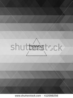 Grid Mosaic Background, Polygon Wallpaper, Triangular - stock vector