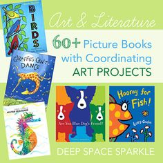 Category : First Grade Art Lessons | Deep Space Sparkle- plenty of Literature Projects linked to Art lessons!! I LOVE this!