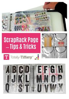 Tips for loading ScrapRack pages by organization expert Tiffany Spaulding Book Crafts, Paper Crafts, Clutter Organization, Organizing, Craft Room Design, Alphabet Stickers, Scrapbook Designs, Scrapbooks, Traveling By Yourself
