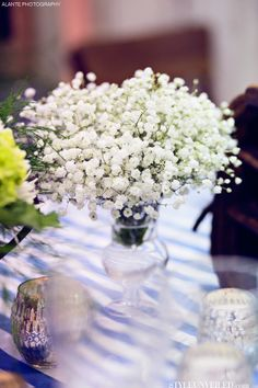 Baby's Breath is great for a smaller table!