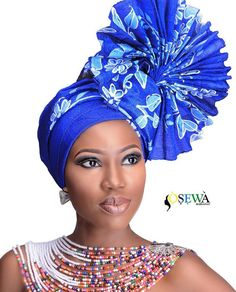 In the headwraps became a central accessory of Black Power's rebellious uniform. Headwrap, like the Afro, challenged accepting a style once used to shame African-Americans. African Head Scarf, African Hats, African Head Wraps, African Attire, African Fashion Dresses, African Women, African Dress, Head Wrap Scarf, Head Scarfs