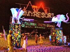 full moon party, thailand.