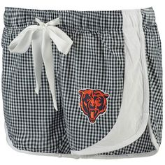 Women's Chicago Bears Concepts Sport Navy Tradition Woven Gingham Sleep Shorts