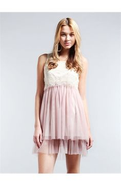 dress with lace and mesh. like the color combination, beautiful vintage dress.