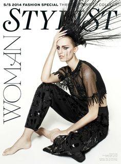 Stylist Magazine February 12th 2014 | Karolina Kurkova by  John-Paul Pietrus Cover #2 #karolinakurkova