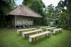 Sweet bench ceremony set up   Bali Event Hire www.balieventhire.com