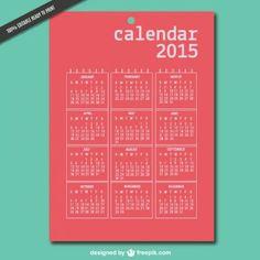 Printable 2015 vector calendar