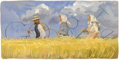 Charles Perrault's Birthday Web Google, Google Art, Logo Google, Les Doodle, Doodle Google, Google Banner, Stick Figure Drawing, Charles Perrault, Anna
