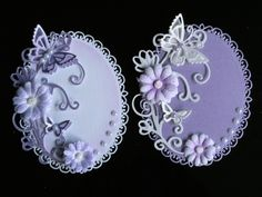 6 hand made card toppers great idea to have a few toppers around for card emergencies. Making Greeting Cards, Greeting Cards Handmade, Butterfly Cards, Flower Cards, Spellbinders Cards, Candy Cards, Heartfelt Creations, Handmade Birthday Cards, Pretty Cards