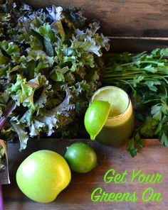 Get Your Greens On Juice - This healthy green juice with kale, apples, parsley and lime is the perfect way to start your morning on the right foot. Loaded with tons of vitamins -- and calcium from the kale -- this juice will totally make up for those cookies you eat later on.