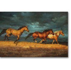 Thunder Ridge Horse Wood Wall Art