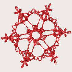 Create a playful display on your tree with lighthearted ornaments like this retro-inspired crocheted snowflake.