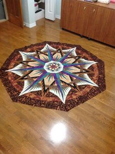 Mariner's Compass, Quiltworx.com, Made by CI Janet Valliere.
