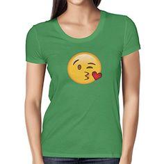 TEXLAB - Blow Kiss Emoji - Damen T-Shirt