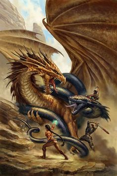 "Dragons:  ""The Serpent and the #Dragon,"" by Todd Lockwood."