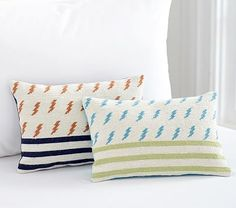 Lightning Bolt Decorative Pillows #pbkids