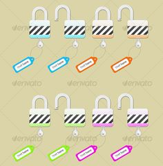 4 colored lock
