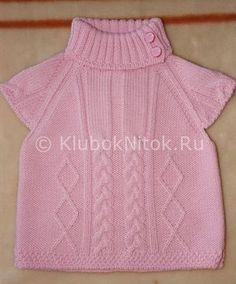 Розовая безрукавка от Полисвет | Безрукавки | Вязание спицами и крючком. Схемы вязания.