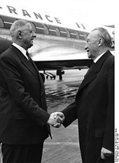 Charles de Gaulle and Konrad Adenauer in 1961