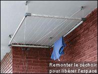 Séchoir suspendu au plafond - Quincaillerie