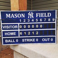 Baseball Scoreboard Customized wood pallet by TheCreativePallet