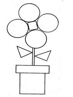 The fairies and fairies of Ludi: Geometry chips Shapes Worksheets, Kindergarten Worksheets, In Kindergarten, Montessori Activities, Toddler Activities, Preschool Activities, Teaching Shapes, Shape Books, Shape Crafts