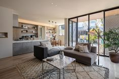 Japanese Interior Design, California Living, Concept Home, House Layouts, House Plans, House Design, Patio, Contemporary, Living Room