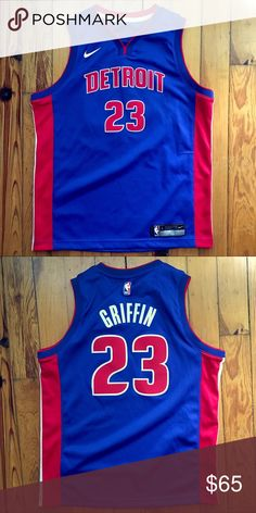 Nike Detroit Pistons Blake Griffin NBA Jersey Youth Large 10eb4a67f
