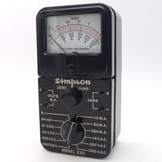 SIMPSON MODEL 230 - cyan74.com vintage and pop culture shop