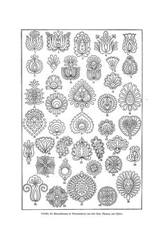 Magyar ornament by aenota magic of color Hungarian Embroidery, Folk Embroidery, Embroidery Patterns, Ink Tatoo, 4 Tattoo, Pattern Art, Pattern Design, Desenho Tattoo, Motif Floral