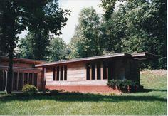 Falling Water Frank Lloyd Wright, Usonian, Clerestory Windows, Radiant Floor, Falls Church, Flat Roof, Interior And Exterior, Virginia