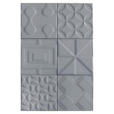 Heritage Slate Gray Deco Ceramic Tile - 6in. x 6in. - 100253541 | Floor and Decor