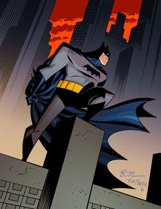 Batman Lines by Bruce Timm Colors by  Tom Martin | HeroChan