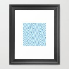 #100 Wiping – Geometry Daily Framed Art Print by Tilman - $37.00