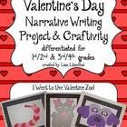This 30 page valentine themed narrative writing activity gets students excited about writing by first having them create a creature for